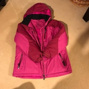 LL Bean ski jacket. Dark pin. Petite L